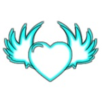 Blue Lined Winged Heart
