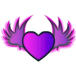 Purple Winged Heart