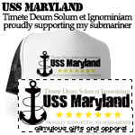Fear Only God and Dishonor: USS Maryland T-shirts