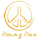 Imagine - Peace Symbol - Orange