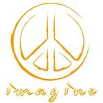 Imagine - Peace Symbol - Orange
