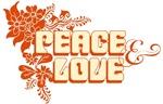 Flower Power Hippie Orange