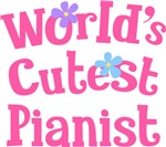 Worlds Cutest Pianist Gifts and T-shirts