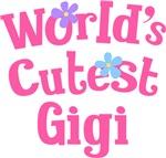 Worlds Cutest Gigi Gifts and T-shirts