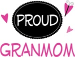 Proud Granmom Butterfly T-shirts and Gifts