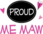 Proud Me Maw Butterfly T-shirts and Gifts