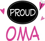 Proud Oma Butterfly T-shirts and Gifts