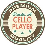 Cello Player Music T-shirts (Premium Qua