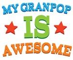 My Granpop Is Awesome Kids Tshirts