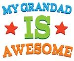 My Grandad Is Awesome Kids Tshirts