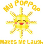 My PopPop Makes Me Laugh Kids Apparel