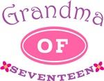 Grandma Of Seventeen T-shirt Gifts
