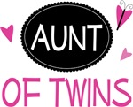 Aunt of Twins Butterfly T-shirts and Gifts