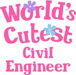 Worlds Cutest Civil Engineer Gifts and Tshirts