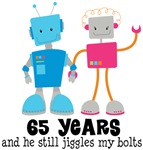 Funny Retro Anniversary Robot Couple Gifts for Her