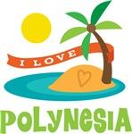 I Love Polynesia T-shirts