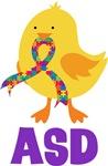 Autism ASD Chick Tshirts