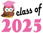 Class of 2025 Graduation Tee Shirts (owl)