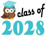 2028 Graduation Tee Shirts (owl)