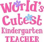 Worlds Cutest Kindergarten Teacher Tshirts