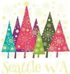 Seattle Washington Holiday Tshirts