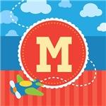 Personalized Kids Airplane Monogram