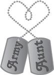 Army Aunt Dog Tags Tshirts