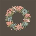 Floral Wreath Pastel