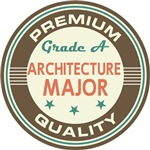 Architecture Major vintage college look tees