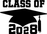 Class of 2028 grad hat logo gifts