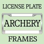 ARCHERY License Plate Frames