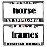 HORSE LOVER LICENSE PLATE FRAMES