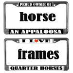 HORSE LOVER LICENSE PLATE FRAMES