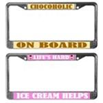 Chocolate Lover License Frames