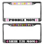 Cute Dog Breed Mom License Frames