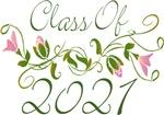 Pink Flowered Class Of  2021 Graduation Design