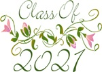 Pink Flowered Class Of  2021 Graduation Design