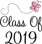 Butterfly Class Of 2019 T-shirts