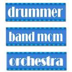 Classy Striped Music Bumper Stickers
