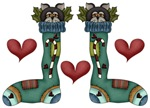 Country Cat Christmas Stocking Gifts and Tees