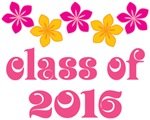 Tropical Floral Class Of 2016 Grad T-shirt