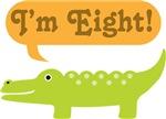 8th Birthday Alligator I'm Eight T-shirts