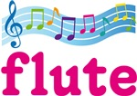 Flute and Music Staff T-shirts