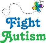Fight Autism Butterfly T-shirts
