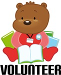 CUTE LIBRARY VOLUNTEER TEDDY BEAR