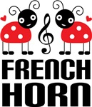 Cute Ladybug French Horn Tees