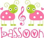 Pink Ladybug Bassoon Music Tees and Gifts