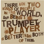 Funny 2 Kinds Of People Trumpet Music T-shirts