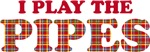 Fun Plaid Bagpiper Pipes T-shirts and Gifts