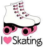 I Love Roller Skating T-shirts and Mugs